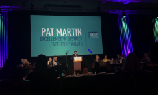 Shelley Magee receives the Pat Martin Excellent in District Leadership Award