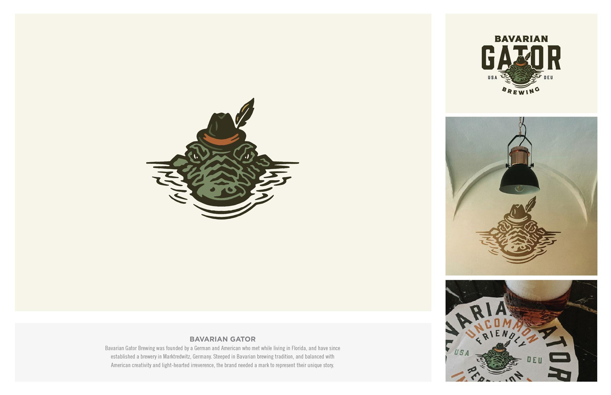 Bavarian Gator Brewing Logo Design